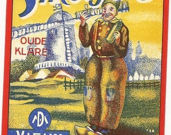 Smetje's Vintage Liquor Label, 1930's