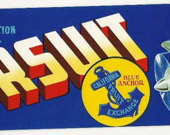 Pursuit Vintage Crate Label, 1960s