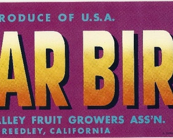 Polar Bird Vintage Crate Label, 1930s