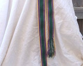 Belt, Sash, Handwoven Cloth, Green Cotton