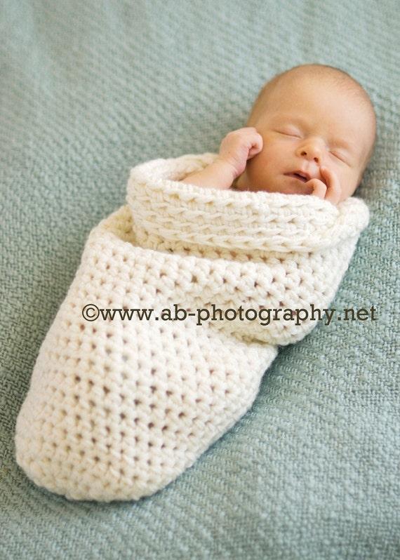 Newborn Baby Cocoon, newborn wrap, crochet sleep sack, newborn photo prop, crochet cocoon, cream, natural