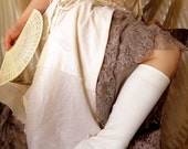 RESERVED for H. Deva Clearance item 30% Off Cream and Lace Leg Warmers Size Small