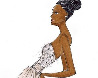Olivia-Bridal Fashion Illustration-by Brooke Hagel