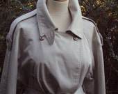 Vintage Classic Full Length Trench Coat UK 12 US 8 10 Double breasted Winter warm