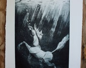 Or Swim an aquatint etching on paper