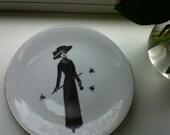 Vintage Plate Decal Customized Handmade Vintage Lady