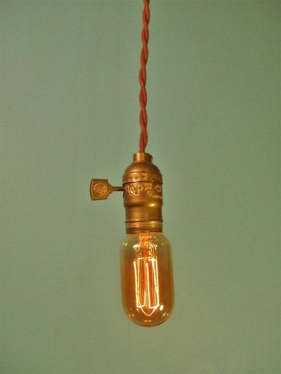 vintage industrial pendant l bare bulb minimalist light