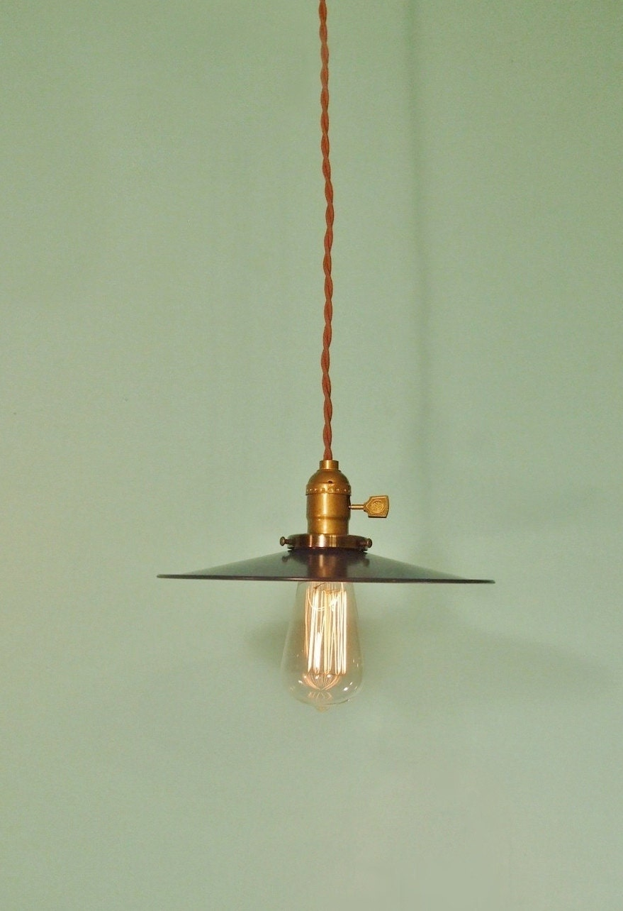 Vintage Industrial Hanging Light Machine Age Minimalist Bare