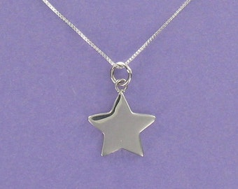 Sterling Silver Engravable Star on Inspirational SUCCESS Card