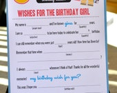 MAD LIBS - BIRTHDAY edition - Presents -  PDFdigital file