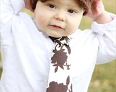 Boy Crocheted Hat with Brim Button Strap Newsboy Hat in Brown. Thick and Warm, brimmed. Baby, toddler, child, tween, teen, adult