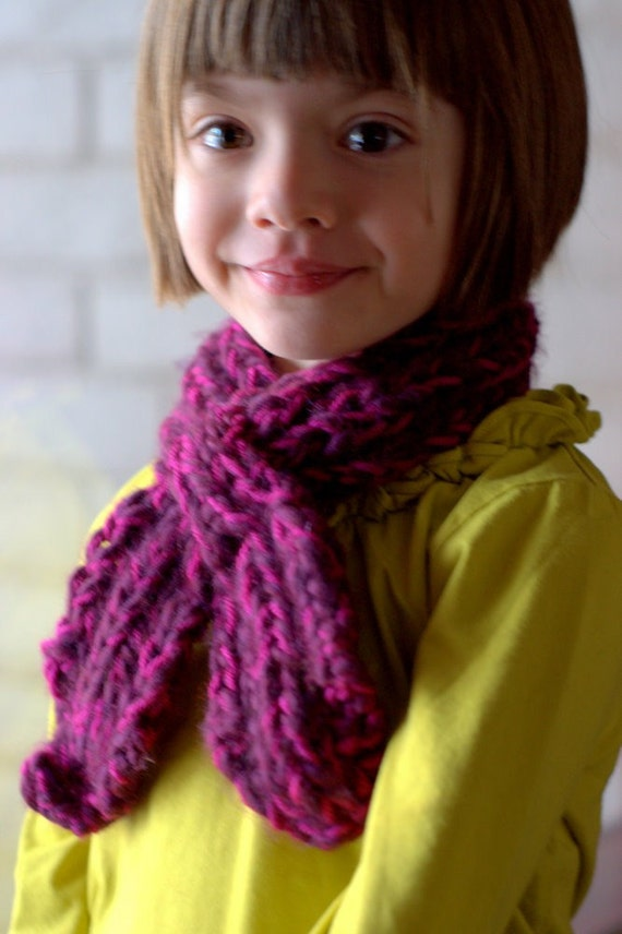 Knitting Pattern For Scarflette : Childs Looped Scarflette Knitting Pattern PDF by ...