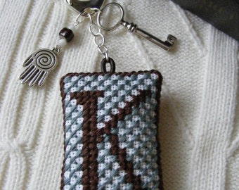 Personalized keychain or purse charm