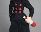 Vampire Girl - original OOAK freestanding sculpture
