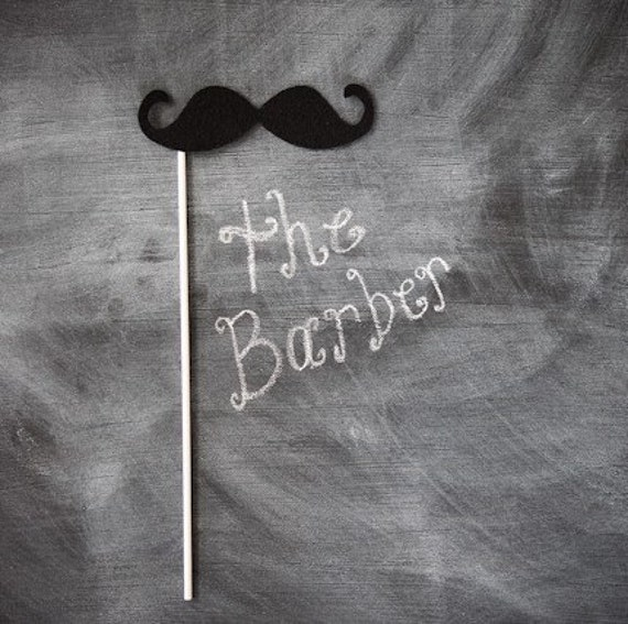 mustache on a stick - the barber