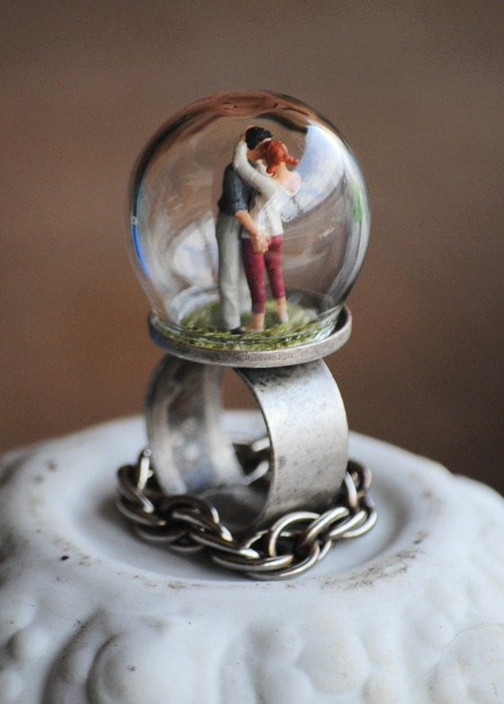 Kissy Face............... Miniature bubble, diorama ring