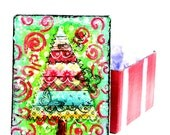 Christmas Holiday Whimsical Red and Green Gift Box on Etsy