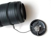 Camera Lens Cap Holder - Lens Cap Leash - DSLR Camera Accessories - Gifts for Photographer Birthday - Nikon Camera - Canon Camera - Rose