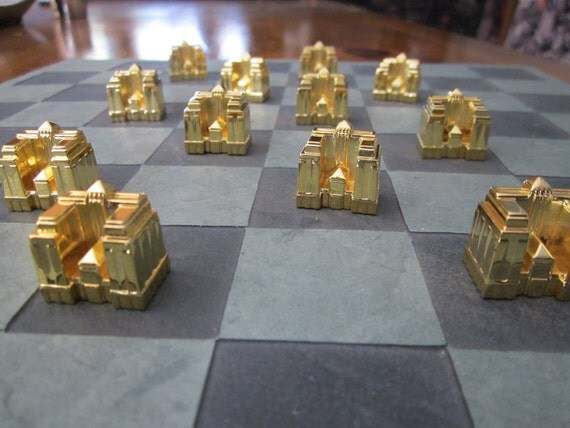Complete Set Gold Plated Monopoly Hotels One By