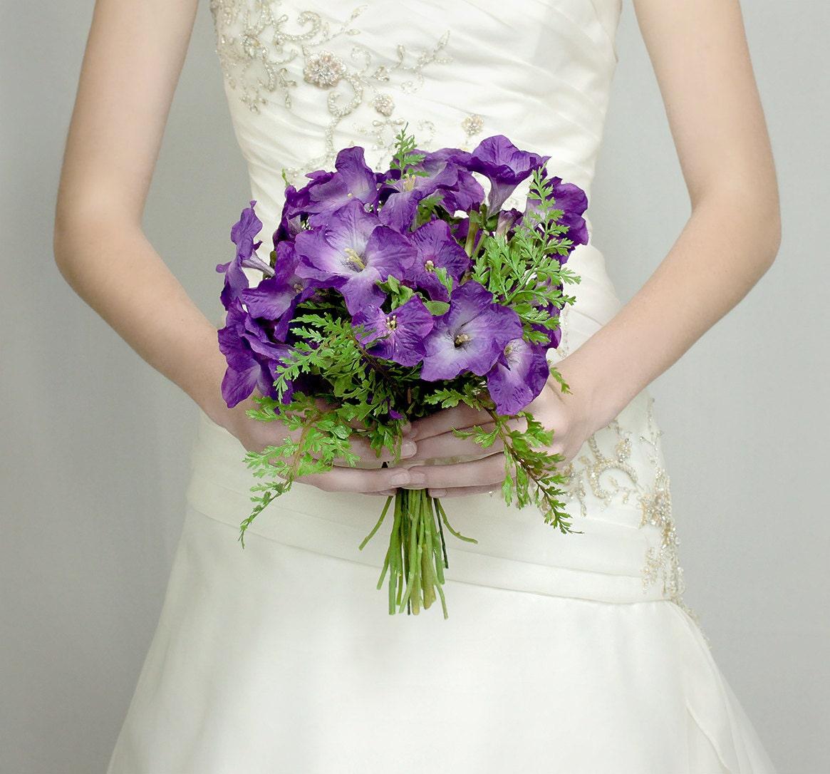Purple Flower Wedding: Wedding Flowers Bridal Bouquet Of Purple Wedding Flowers