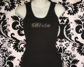 Bride Chic Rhinestone Tank Top, Bride Rhinestone Tee, Bride shirt, Bridal Shirt, Bride Bling Shirt, Bride Script Shirt, Classy Bride Shirt,