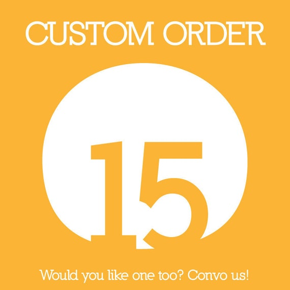 Custom Order Reserved for Katy