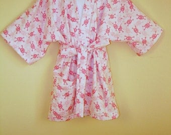 Girls Robe Flannel, can be made to Order in Cotton