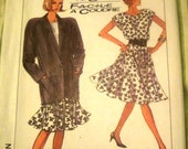 Simplicity 8430 Womens 80s Circle Skirt or 2 piece Dress Top Jacket Sewing Pattern Bust 38 40 42