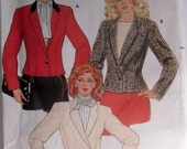 Butterick 6071 Womens 80s Hip Jacket Sewing Pattern Size 8 Bust 31 1/2