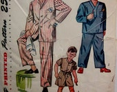 Simplicity 2548 Mens or Boys 40s Pajama Sewing Pattern Chest 32