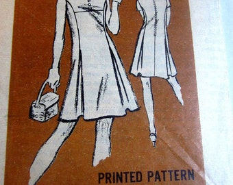 Harmay Mail Order A971 Womens 70s  A Frame Tie Dress Sewing Pattern Size 12 Bust 34
