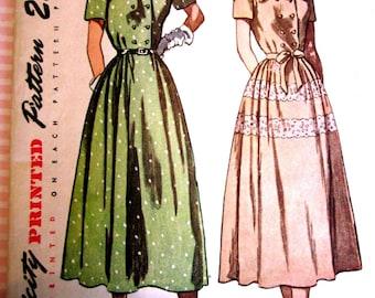 Simplicity 2504 Women's 40s Shirtwaist Dress Sewing Pattern Bust 32