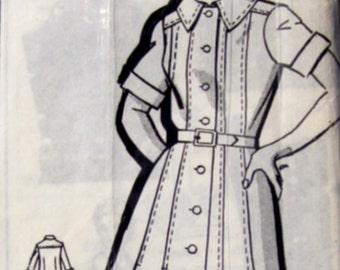 Betty Ann 8253 Womens 70s Plus Size Panel Dress Sewing Pattern Size 46 Bust 50