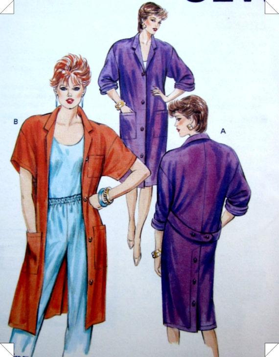 KWIK 1491 Duster Jacket Sewing Pattern 1980s