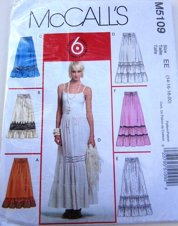 Cool  3672 ALINE DRAWSTRING WAIST SKIRT Sewing Pattern Women Sz 16  EBay