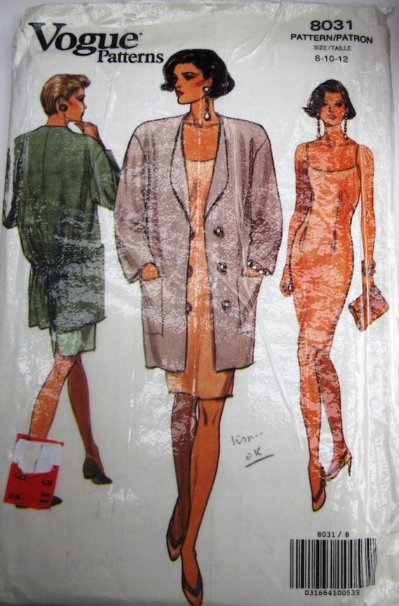 Vogue 8031 Womens Jacket Dress Sewing Pattern