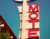 Route 66 Pasada Motel Vintage Neon Sign - As Seen on HGTV - Road Trip - Mid Century Modern Los Angeles - Fine Art Photography