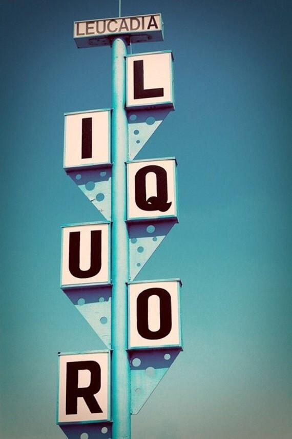Encinitas 101 Mainstreet Association: Route 101 Leucadia Liquors Googie Sign By RetroRoadsidePhoto