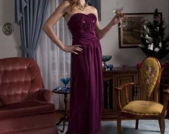 Rodarte Replica Gown... Strapless Magenta Ballgown