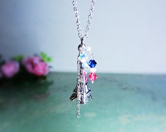 Vintage Antique Simplify La Tour Eiffel Necklace - Made with Swarovski Crystal