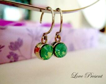 Opal Dream Swarovski Crystal Hoop earrings - Choose your color