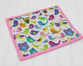 Preschool Homeschool Chalkboard Mat Birds and Owls Reusable Art Girl Toy
