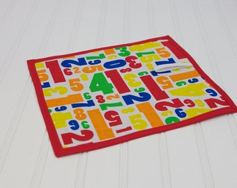 Homeschool Material Chalkboard Mat Reusable Art Toy Primary Colors in Numbers