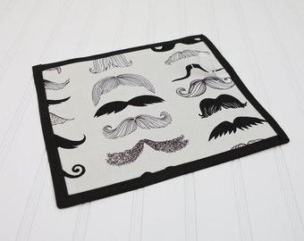 Mustache Toy Chalkboard Mat Reusable Art Toy Where's my Stache by Alexander Henry