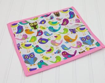 Preschool Homeschool Chalkboard Mat Birds and Owls Reusable Art Girl Toy