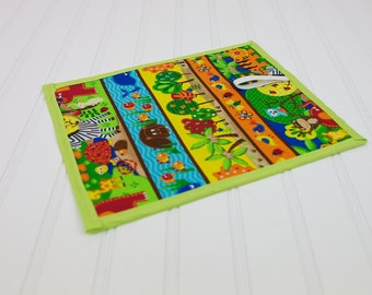 Chalkboard Mat Reusable Art Toy Animals Bright Colors, Boy or Girl Toy