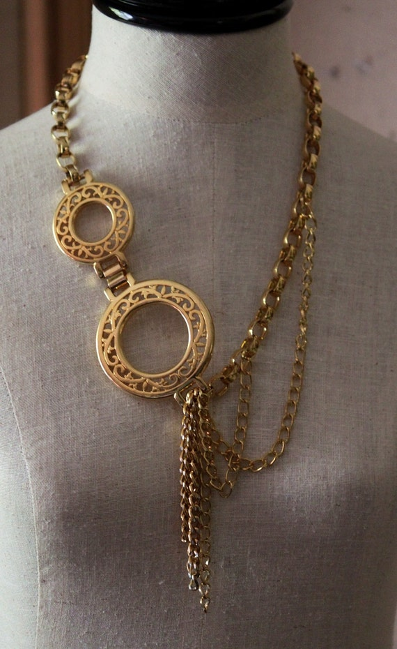 CHAINS, CHAINS, CHAINS  Repurposed Chain Statement Necklace