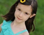 golden mini daisy on chocolate brown skinny headband