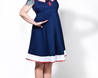 Rockabilly maternity dress / Sailor Mom