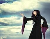 Floor Length Dark Darien Coat - Custom Made - Long Black Coat - Warm Winter Coat - Handfasting - Pagan - Samhain - Wedding - Game of Thrones